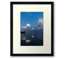 Cool Pearly Clouds Over the Lake Framed Print