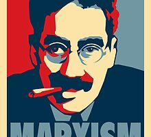 Groucho Marxism poster by boxsmasher