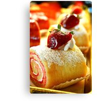 Strawberry Pastry Canvas Print