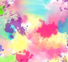 Colorful Abstract Watercolor Sticker