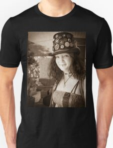 Woman in a Tall Hat Unisex T-Shirt