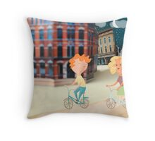 On Yer Bike Throw Pillow