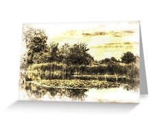 The Lily Pond Vintage Greeting Card