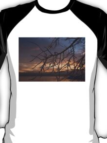 A Sunrise Through the Icy Branches T-Shirt
