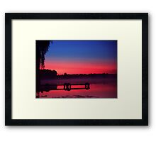 Fog over the dock Framed Print