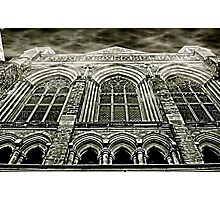 Church Windows B&W Photographic Print