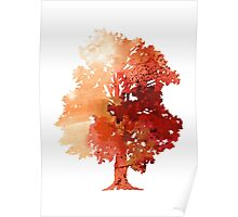 Abstract tree watercolor poster Poster