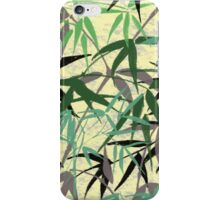 Bamboo Foliage, Leaves, Shoots - Green Yellow iPhone Case/Skin
