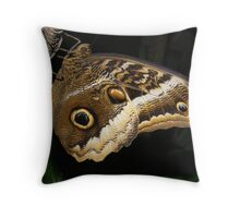 Owl Butterfly Throw Pillow