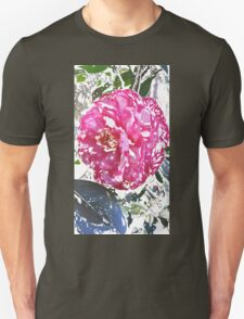 Pink and White Camellia T-Shirt