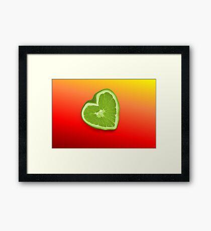 Bitter Heart Framed Print