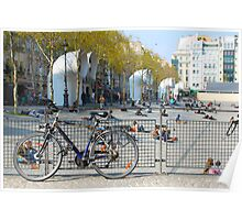 Bicycle outside the Centre Pompidou, Paris Poster