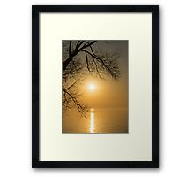 Framing the Golden Sun Framed Print
