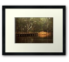 The Viewing Bridge, Kennington Resevoir By Lorraine McCarthy Framed Print