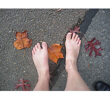 Autumn footsteps Photographic Print