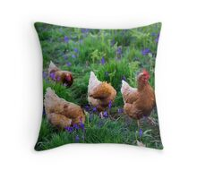 Tiptoe Through The Bluebells Throw Pillow