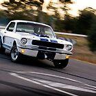 Mustang sideways by Greg Carrick