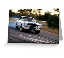 Mustang sideways Greeting Card