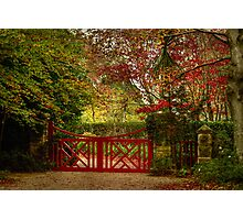 The Large Red Gate ... Mt Wilson in Autumn Photographic Print