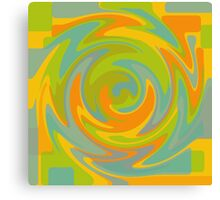 Colours: Yellow Green Blue Orange Pattern Canvas Print
