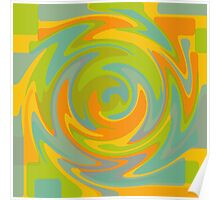 Colours: Yellow Green Blue Orange Pattern Poster