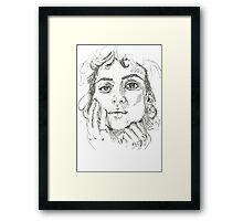 Alia Shawkat  Framed Print