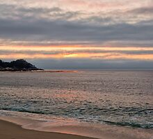 Sunset at Monastery Beach by Yair Karelic