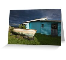 Boat and hut Greeting Card