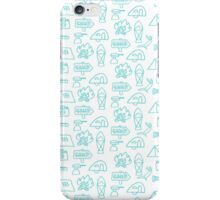 Camping Doodle Print Blue iPhone Case/Skin