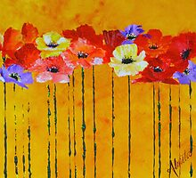 a clutch of poppies by Almeta
