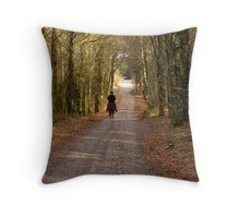 Forest riding Throw Pillow
