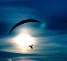 Night paraglider by Nordlys