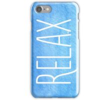 Watercolor Relax iPhone Case/Skin