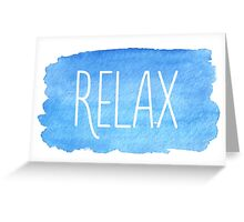 Watercolor Relax Greeting Card