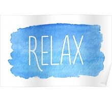 Watercolor Relax Poster