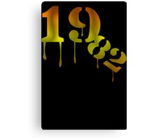 1982 Birthday Year  Funny Canvas Print