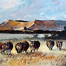 Mount Schank Herefords, South Australia by Pieter  Zaadstra