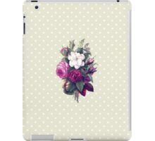 Roses, Flowers, Blooms, Leaves - Pink Green White iPad Case/Skin