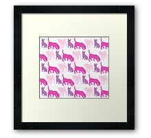 Pink Pooches Framed Print