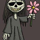Creepy Girl with Flower by Wislander
