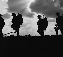 Battle of Broodseinde - World War 1 - Troop Silhouette  by frictionqt