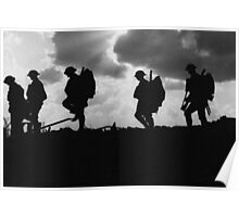 Battle of Broodseinde - World War 1 - Troop Silhouette  Poster
