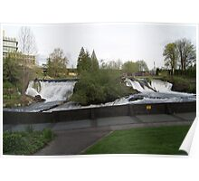 Tumwater Falls on a spring day Poster