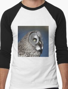 Great Grey Owl Men's Baseball ¾ T-Shirt