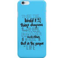 Walter Mitty Life Motto - Black iPhone Case/Skin