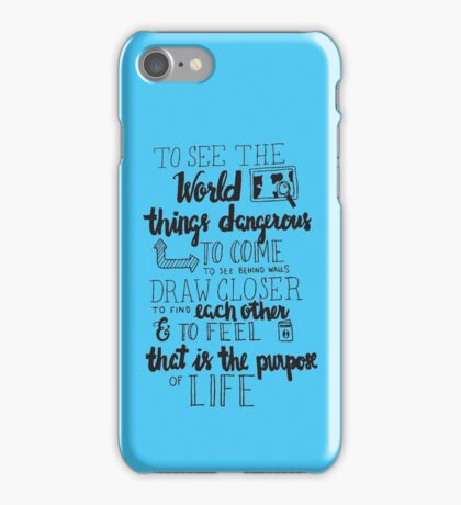 Walter Mitty Life Motto - Black iPhone Case/Skin
