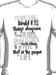 Walter Mitty Life Motto - Black T-Shirt