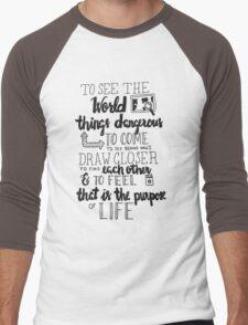 Walter Mitty Life Motto - Black Men's Baseball ¾ T-Shirt