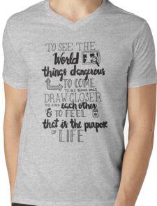 Walter Mitty Life Motto - Black Mens V-Neck T-Shirt