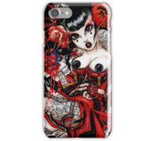 bleeding heart geisha iPhone Case/Skin
